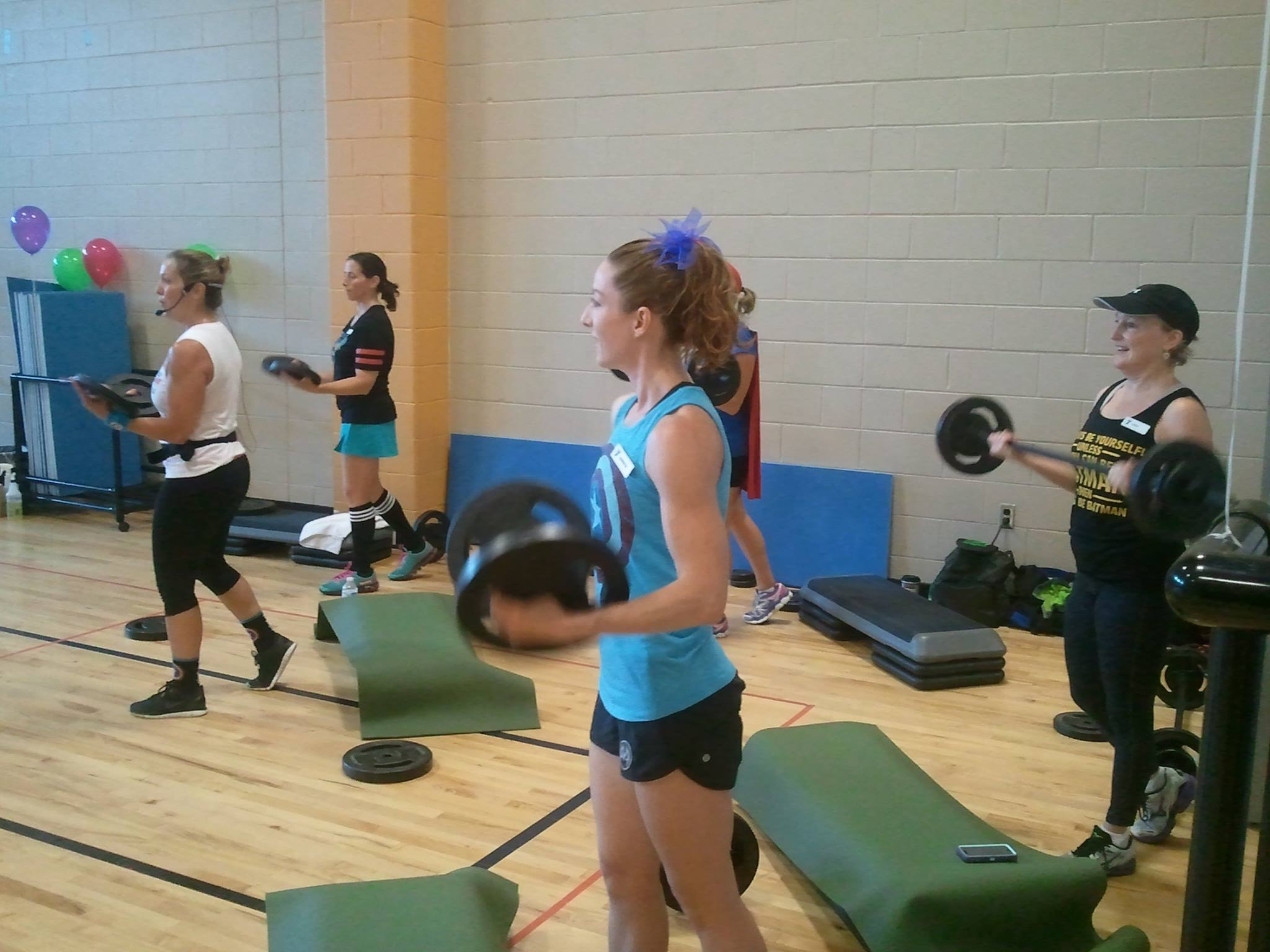 Team teaching the new release!  The biceps track was awesome :)