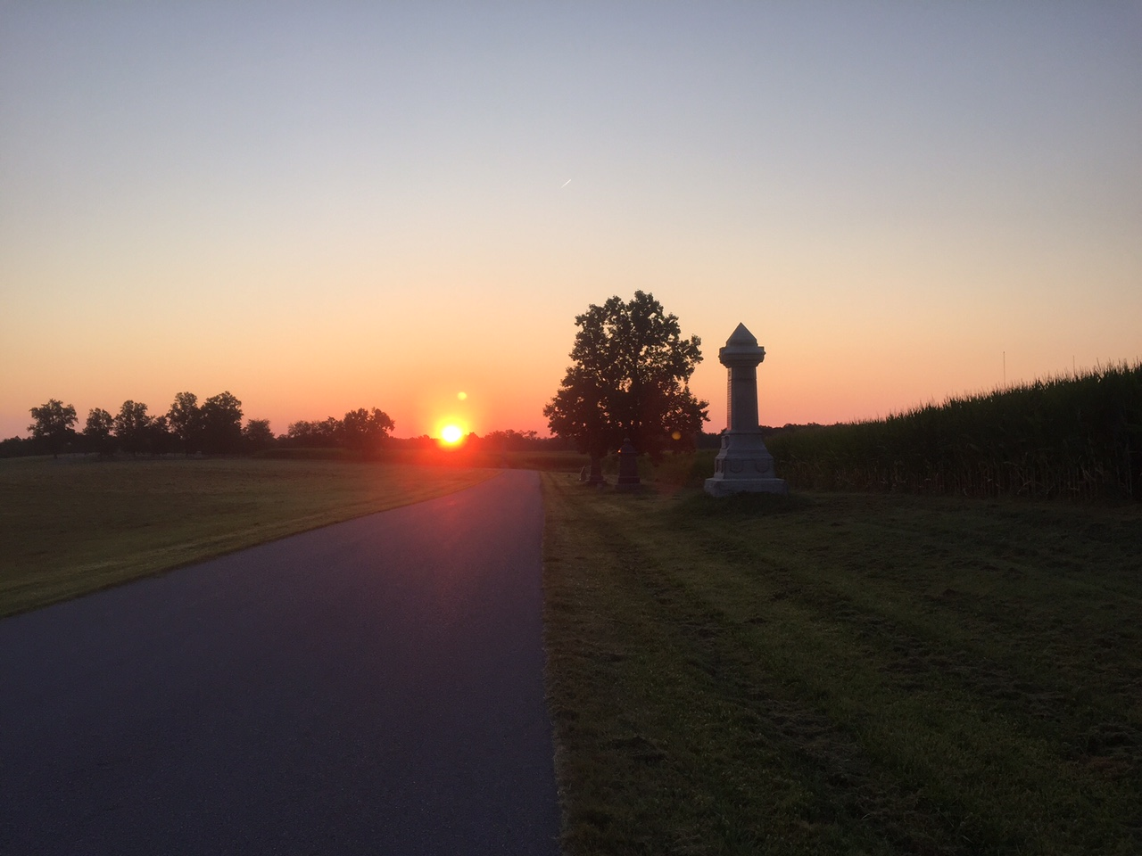 Early morning run on the Gettysburg battlefield