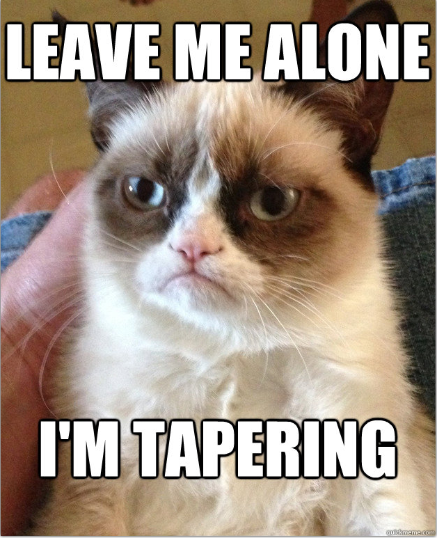 Have you hugged your tapering marathoner today?