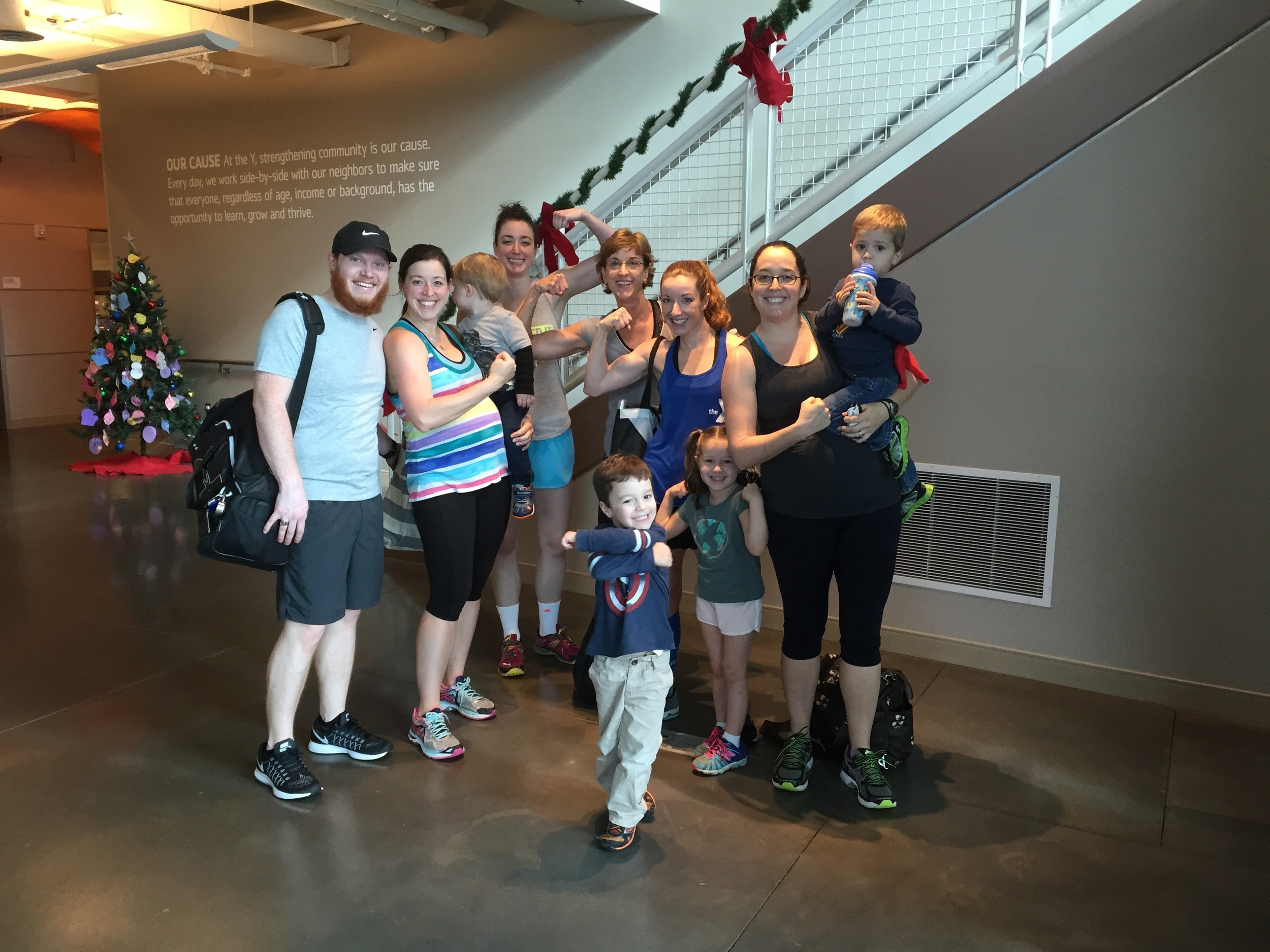 Something different: Convincing my extended family to take my BodyPump class!