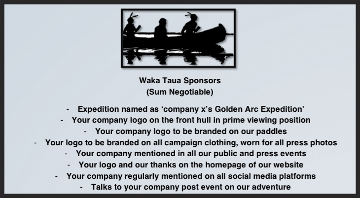 Waka Taua - a Maori war canoe.  You will be our lead sponsor and the main focus of our efforts. We will work with you to elevate your company in the way you want, promote your business, products and/or services in every way that we can.
