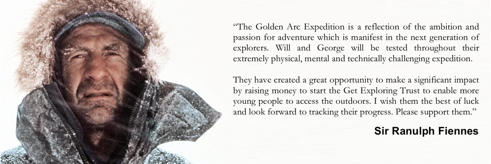 A message from Sir Ranulph Fiennes MBE, The World's Greatest Living Explorer (Guinness Book of World Records).