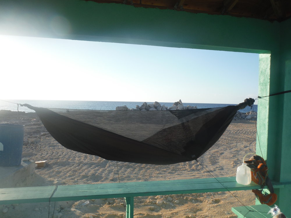 After staying with Murphy it was back to the hammocks, this time set up between the posts of a beach shack