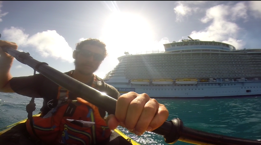 How close is too close to a cruise ship?