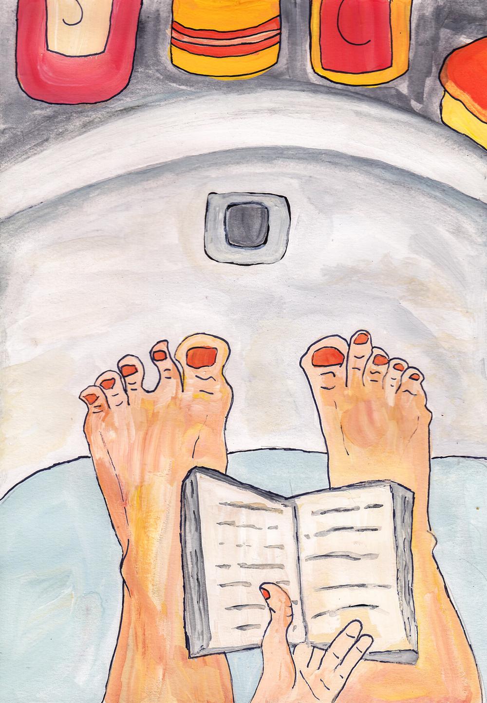 reading in tub sarah natsumi moore