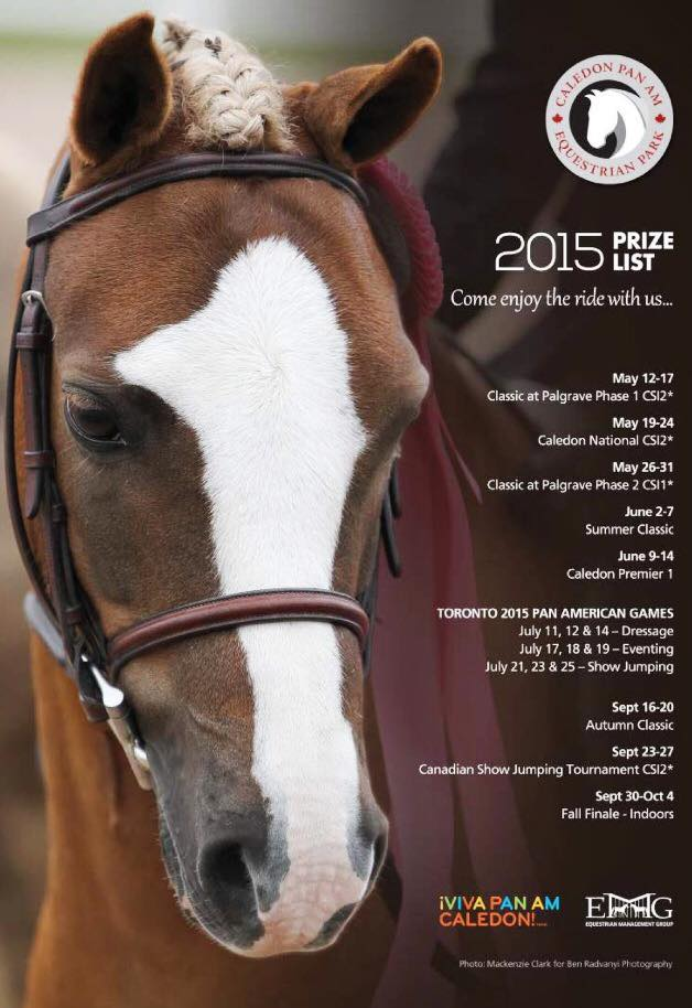 Pan Am Equestrian Park, Prize List 2015