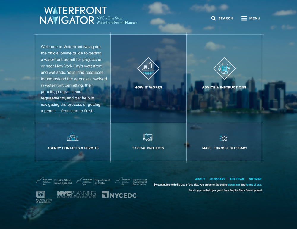 Waterfront Navigator homepage