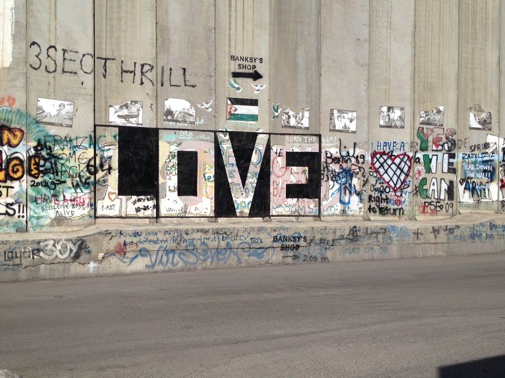 Grafitti on The Wall near Bethlehem