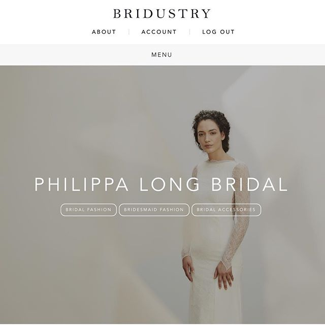 @philippa_long_bridal now listed on @bridustry which launched this week 💫✨do checkout our listing 👉🏼 www.bridustry.com 👰🏽