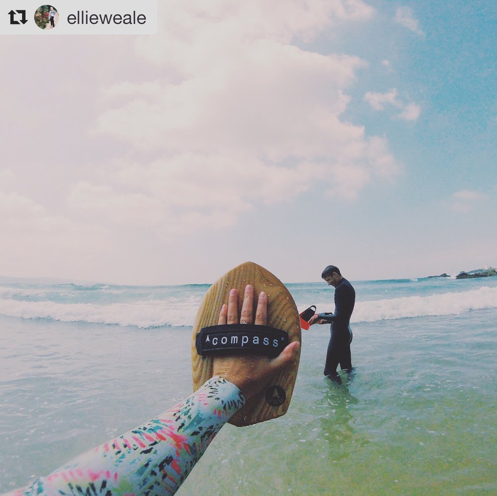 Compass Handplane bodysurf review bodysurfing 5star surfing surfer handmade wooden uk