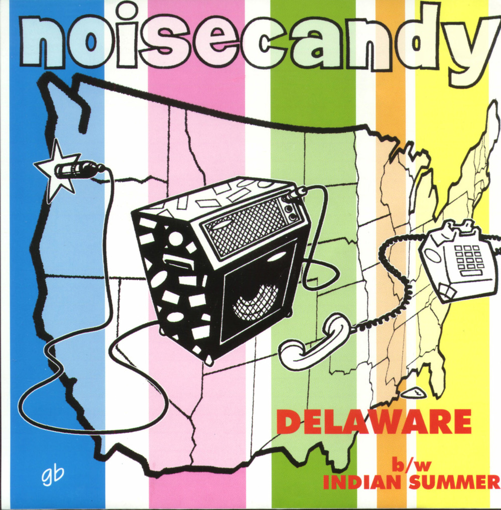 "Noisecandy - Delaware/Indian Summer 7"" single Self-released, 1997 Producer: Pete Ficht Pete on lead vocals, guitar, bass and songwriting"