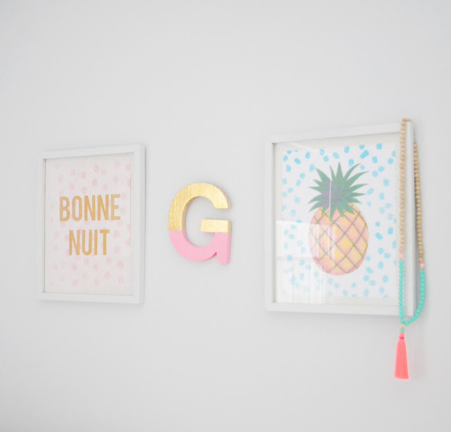 DIY Gold Foil Letter Art by lifestyle blogger Liz from Pure Joy Home