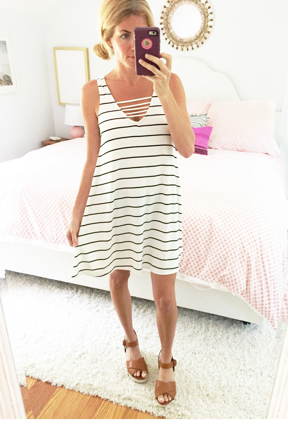 my new  stripe swing dress  for only $38!