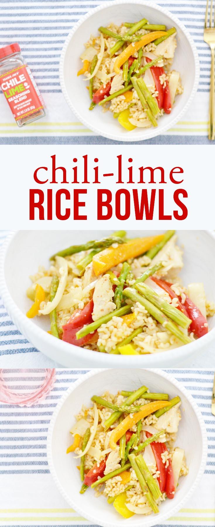 chili lime rice bowls