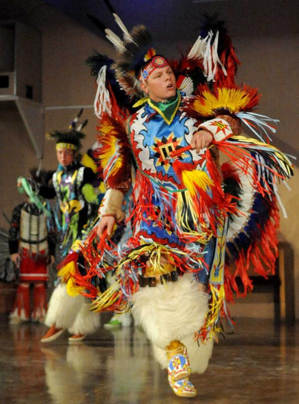 Matt Visel performs at the Kwahadi Museum of the American Indian and Performance Center.