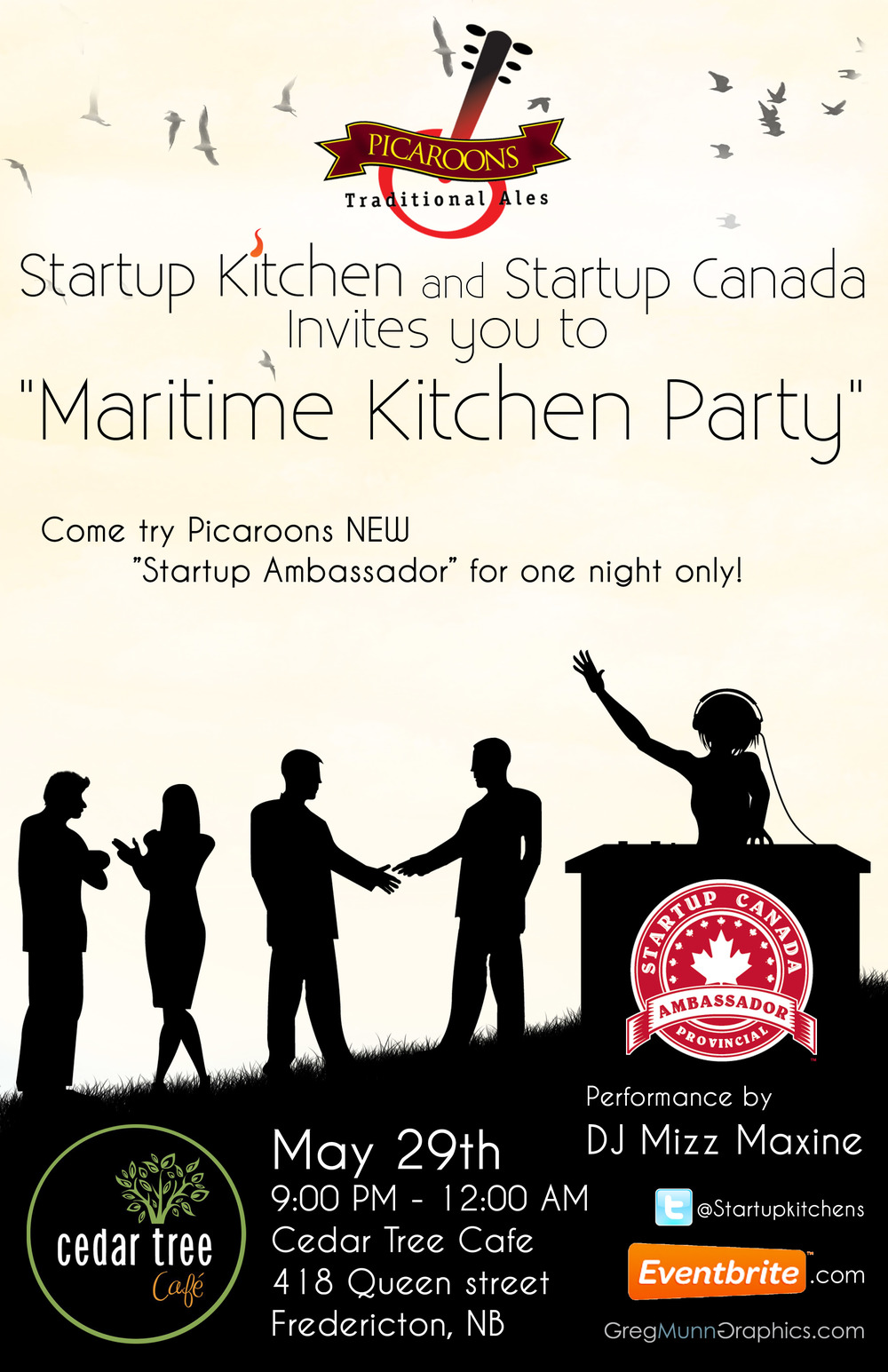Invitation to the Startup Canada Kitchen Party — #StartupEast