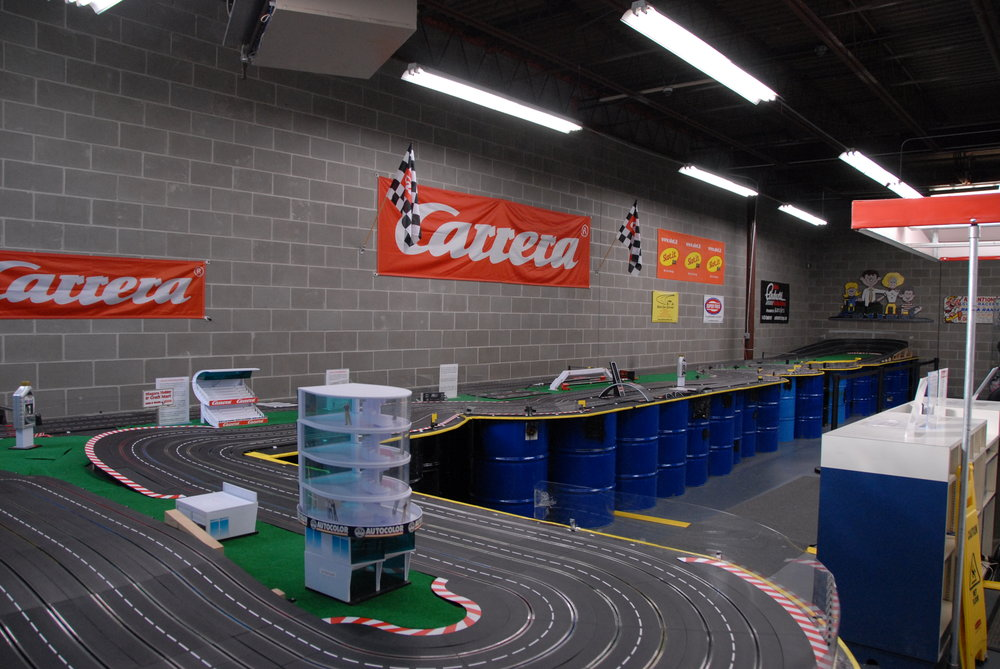 Our first six-lane Carrera Slot Car Track... it was a monster!