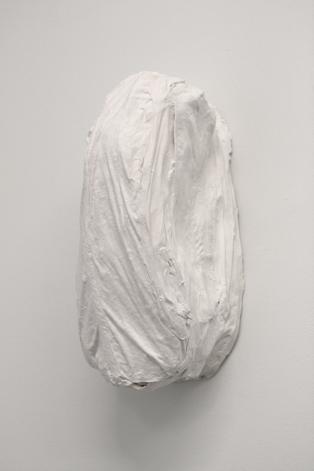 Shoulder Touch   2013 plaster, silk 7.5 x 14 x 7.5 inches