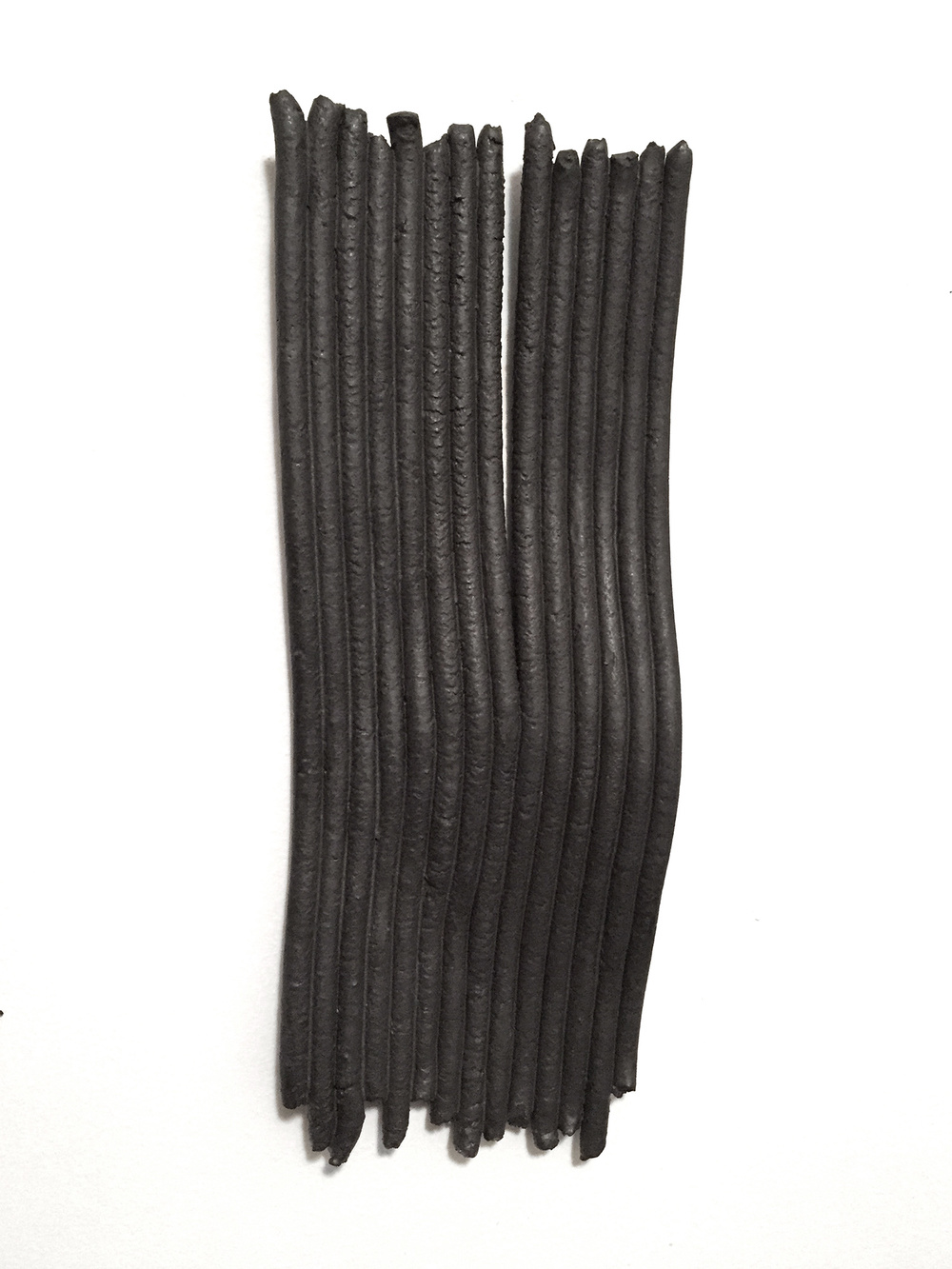 Struggs: For Aaron B  2015 glazed ceramic 6 x 17 x 2 inches