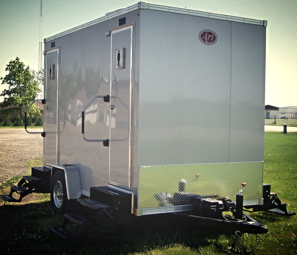 bathroom trailer top gallery portable restroom a for of rent