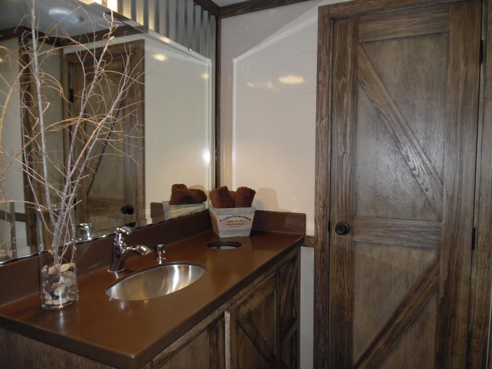 Inside Country Charm Restroom Trailer Rental