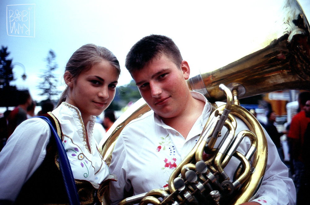 Young couple at Guča Festival