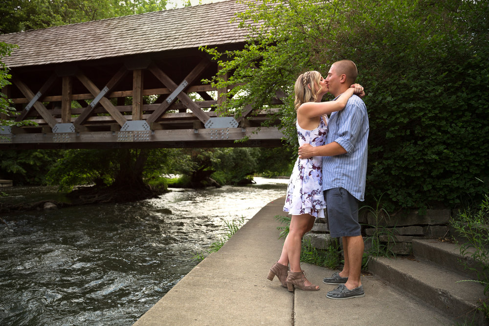 Engagement photography session at Naperville Riverwalk - Naperville, IL