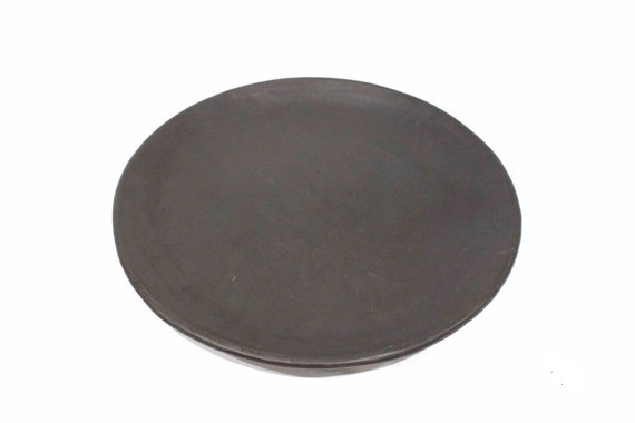 Black Pottery Plate