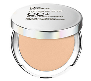 Powder:    IT Cosmetics  CC+ Airbrush Perfecting Powder- Medium