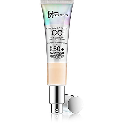 Foundation:     IT Cosmetics  CC+ Color Correcting Cream- light