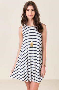 Francesca's Liza Striped Shift Dress, $38