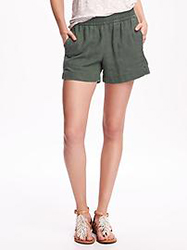 Old Navy Mid-Rise Linen-Blend Utility Shorts, $19.94
