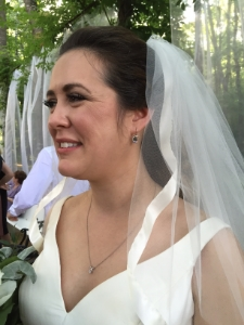 Here is my gorgeous friend Lydia wearing my earrings on her wedding day!
