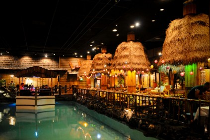 There is no picture that can do the   Tonga Room in the Fairmont Hotel   San Francisco justice. This is a true, yes, true tiki bar. I had a mai tai...woah!