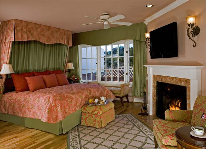 The Spindrift Inn  was pretty spectacular. Huge room, views of the ocean, a fireplace, and breakfast served to your room in the morning at the time you specify. Yes, please.