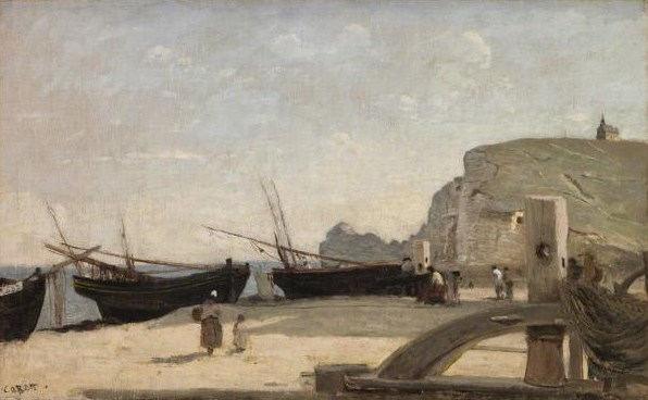 The Beach, Étretat  , 1872