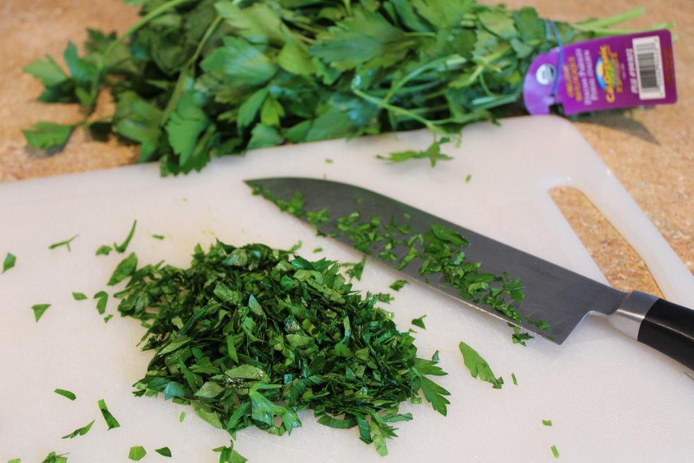 2. Chop handful of parsley