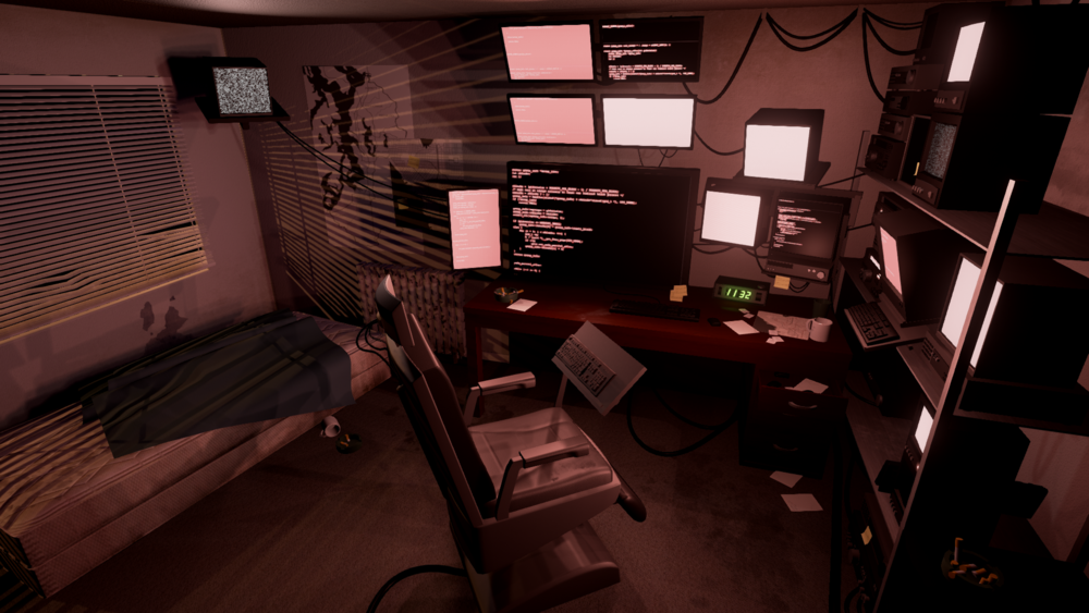 Hacker's Den - Rendered in realtime in Unreal4 - 2015 - Responsible for everything
