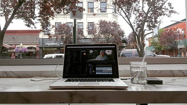 The view from my office today.  #rvlife  #editing