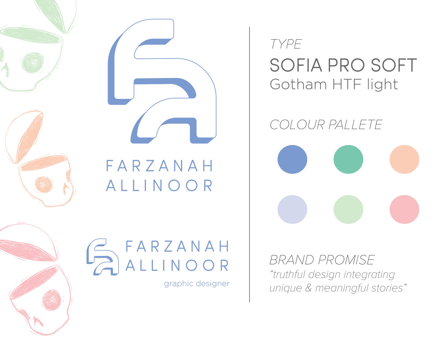 Visual Identity | Initial Steps — Farzanah Allinoor