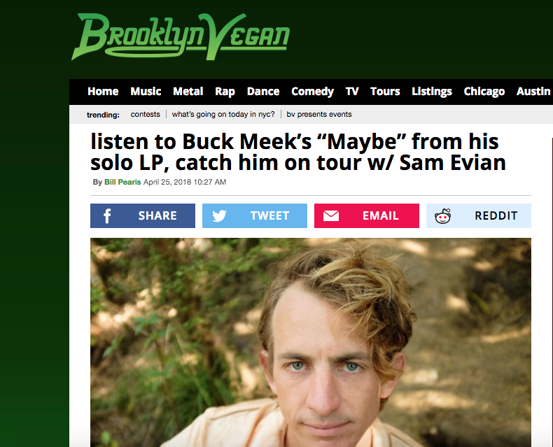 Brooklyn Vegan premieres the third Buck Meek single