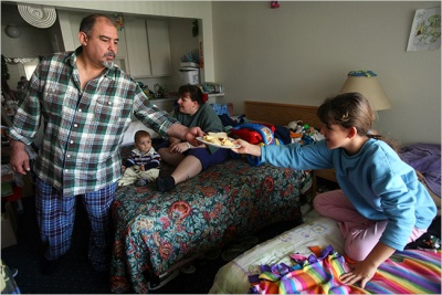 Homeless families are living in motel rooms in Malden and Melrose and they need your help...