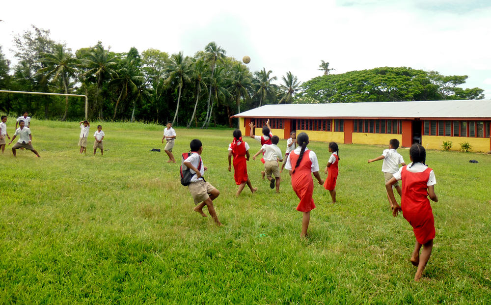 Kickball was a hit with my students in Tonga!