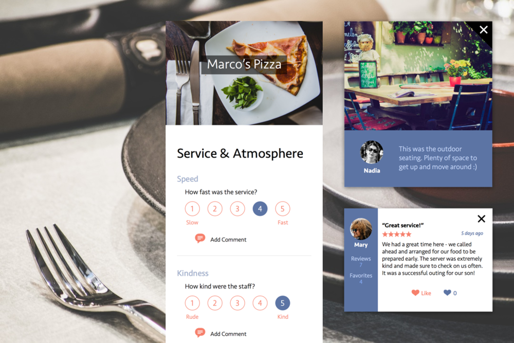 Autism-friendly dining app // Product design