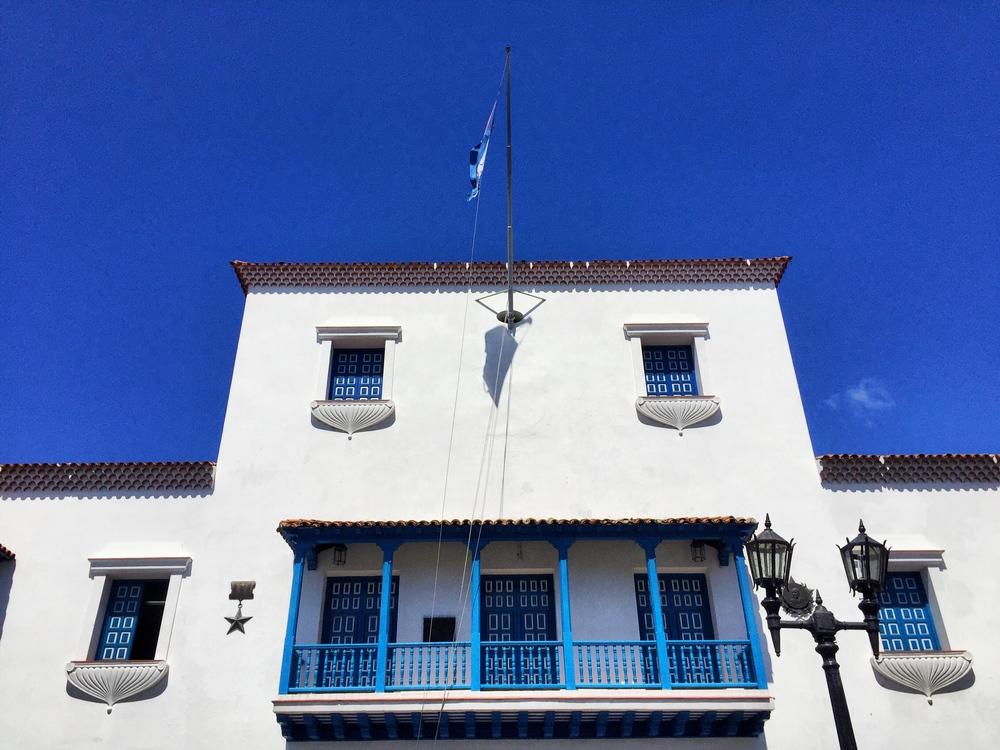 Balkón odkiaľ vyhlásil Fidel víťazstvo revolúcie