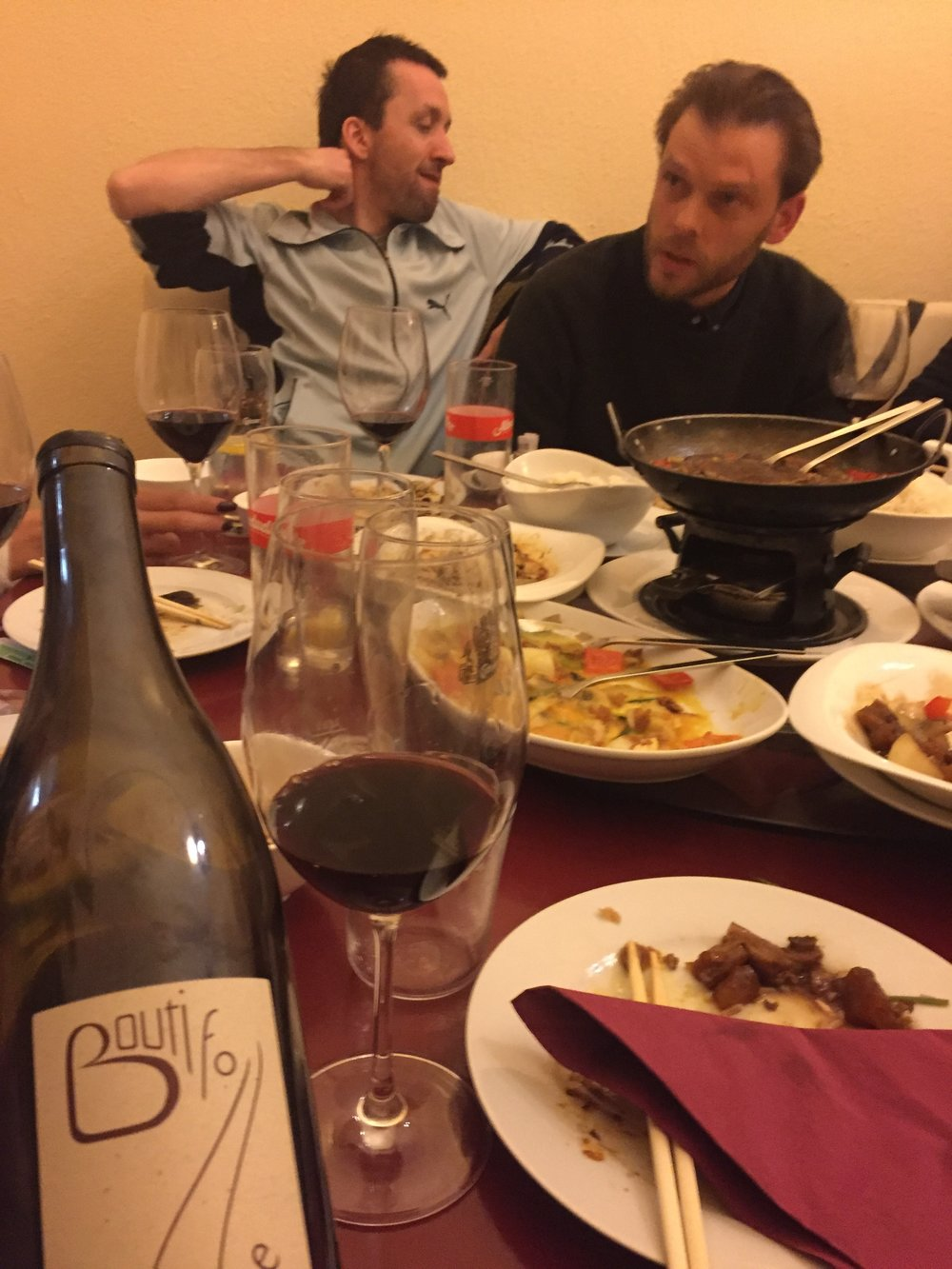 Florian, Gian Luca, the best Chinese outside of China and some good wine = a great time