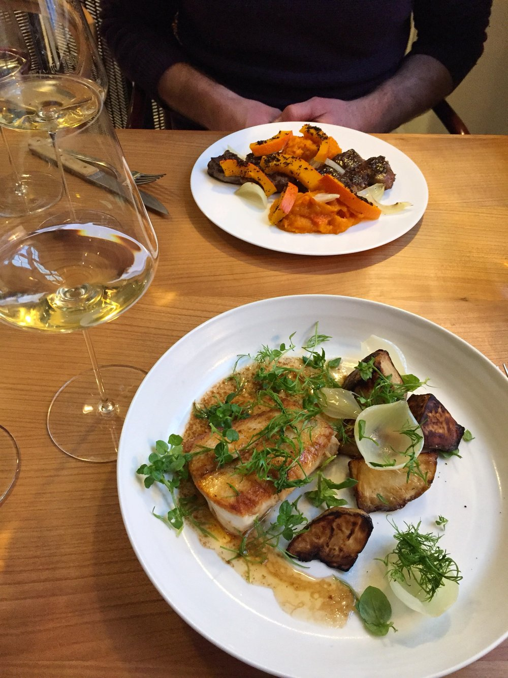 Our delicious lunch at Admiralgade 26 in Copenhagen