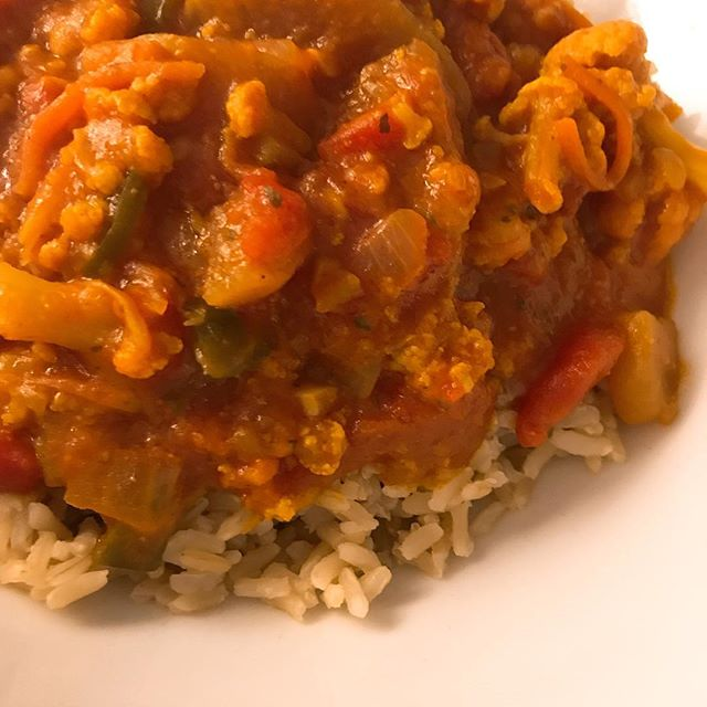 Slow cooker veggie tikka masala we found on @cookinglight from @dishingouthealth! So delicious and loved having something different than usual. . . . . . . #Colorado #FortCollins #Denver #Boulder #ColoradoSprings #Foodie #Foodies #FoodBlogger #HomeCooking #Recipes #tikkimasala