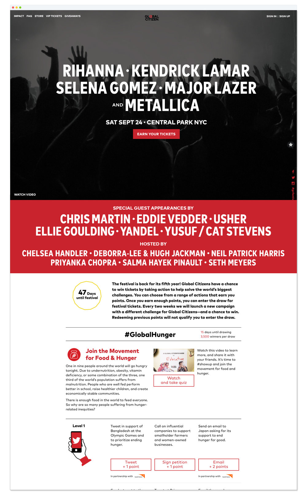 Global Citizen Festival Site