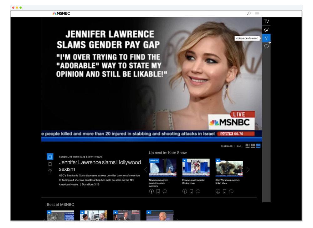 Video Experience on MSNBC.com